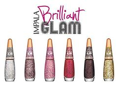 Impala Nail Polish Brilliant Glam Collection - 6 Glitter From Brazil * See this great product.
