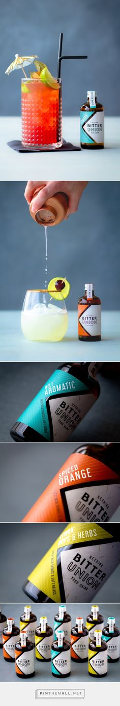 Bitter Union packaging design by Kingdom & Sparrow - http://www.packagingoftheworld.com/2017/06/bitter-union.html