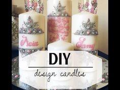 DIY design candles tutorialHenna   الرسم على الشمع وانواع الصبغات التي استعمل - YouTube