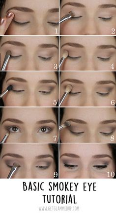 VIDEO: Easy Smokey Eye Tutorial for Beginners: https://youtu.be/h3_ZtKEY-o4 Step by step instructions