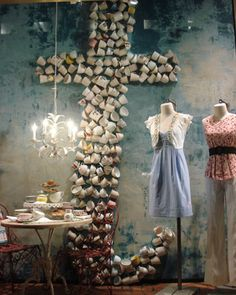 "Anthropologie ""Cup o' Tea"" display"