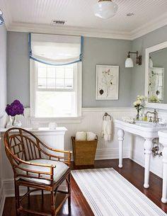дневник дизайнера: Кантри интерьер ванной комнаты в загородном доме. 40 картинок уютной сельской жизни