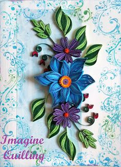 Imagine Quilling: Rhapsody in Blue
