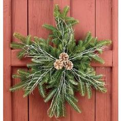 Snow flake holiday wreath