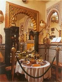 Very good Moroccan restaurant in the Albayzín quarter in Granada, Spain
