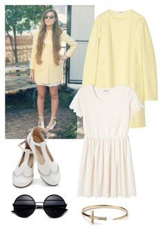 """""""Inspired Marzia Bisognin"""" by breanna-reingold ❤ liked on Polyvore featuring Jil Sander, Monki, TOMS, GetTheLook, cute, Youtuber and MarziaBisognin"""