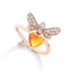Stenzhorn Bee Mine citrine and diamond ring