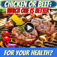 Chicken or Beef: Which One is Better For Your Health? (Diet Plan For Kids) Loose Weight Fast, Fat Fast, Fat Burning Tea, 7 Day Diet Plan, Candida Diet, Fat Loss Diet, Nutrition Tips, Kids Meals, Food Videos