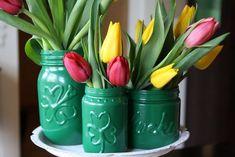 St. Patrick's Mason Jars