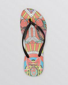8f6179b3ab4f28 New havaianas + Mara Hoffman Flip Flops - so cool!