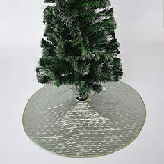 Gireshome 42 quilted embroidery Tree Skirt Christmas Tree Skirts silvery satin XMAS Tree Decoration Merry Christmas Supplies Christmas Decoration ** You can get more details by clicking on the image. (This is an affiliate link) #ChristmasTreeSkirts
