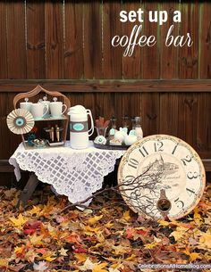 Autumn Entertaining – How To Set Up A Coffee Bar — Celebrations at Home #fall #coffeebar #entertaining