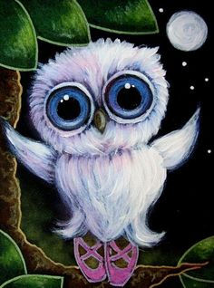 TINY TORNASOL OWL WITH SLIPPERS - BALLERINA