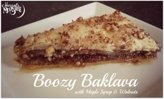 ----------------------------- Original Pin Caption: Boozy Bourbon Baklava with Walnuts and Maple Syrup The Joy Of Baking, Vegan Dessert Recipes, Breakfast Dessert, Vegan Cake, Vegan Treats, Vegan Baking, Maple Syrup, Sweet Recipes, Sweet Tooth