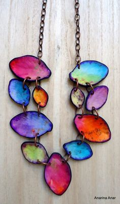 Collier multicolore / Polymer Clay Art