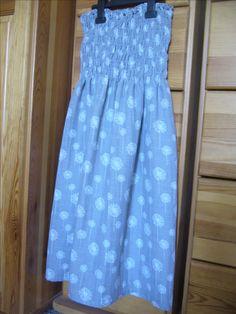 Žabkové šaty z dvojitej gázoviny.