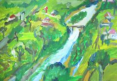Landscape with river - Tetyana Snezhyk painting