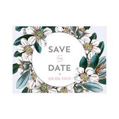 Carte Save The Date Vintage Garden