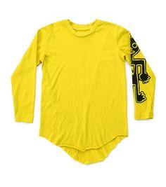 raw tribal dancer t-shirt in dusty yellow Kids Fashion, Fashion Outfits, Kids Outfits, Dancer, Yellow, Long Sleeve, Sleeves, Swimwear, T Shirt