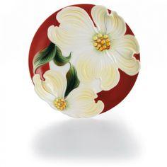 kathy ireland Home by Franz Collection Autumn Memories Large Floral Porcelain Decorative Plate - FZ01667