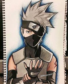 I give credit for who ever made this it turned out awsome! Anime Naruto, Manga Anime, Naruto Vs Sasuke, Naruto Art, Manga Art, Naruto Tumblr, Kakashi Drawing, Naruto Drawings, Naruto Sketch