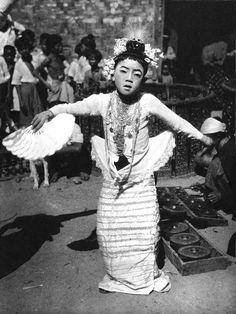 Burmese dancer in traditional dress, 1935 by Martin Hurlimann. S)