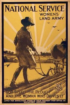 With the country at war and all able-bodied men needed to fight, there was a shortage of labour to work on farms and in other jobs on the land. The government wanted to increase the amount of food grown within Britain. In order to grow more food, more help was needed on the farms and so the government started the Womens Land Army.