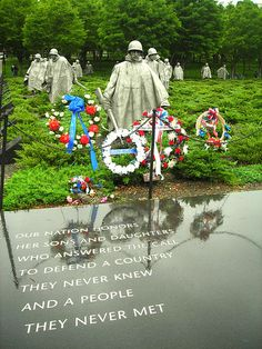 Korean War Memorial - I saw this on a misty, foggy night; it is a very lifelike and very moving memorial.