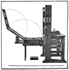 This image demonstrates the printing press they used