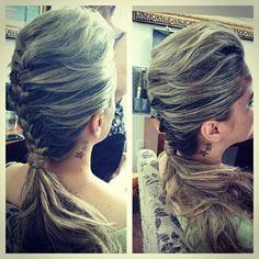 Cabelo Preso ~  Moicano ~ trança #flaviayukiehairstylist  #noivas #casamento #pousoalegre #suldeminas #penteado de #penteadosmodernos #makingof #atendimentovip #madrinhas #hairstyle #hairstylist #pivotpoint