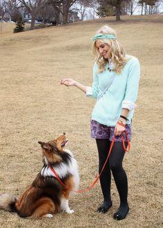 bijuleni - sheltie puppy and spring shorts