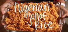 Until the day we spent with the Utuk's, I had no experience with Nigerian food nor jollof rice. Jollof rice is a staple rice dish that is common all over West… Jollof Rice Nigerian, Nigerian Food, Cooking Tips, Cooking Recipes, Great Recipes, Favorite Recipes, Rice Dishes, International Recipes, Food Videos