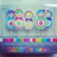 birthday candles russian dolls