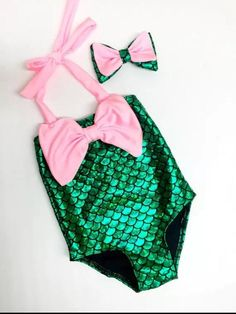 35aff57e6c249 Girls Kids Mermaid Swimmable Girl Swimwear. Swimsuit. Bathing Suit Comes  with matching headband.