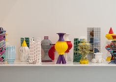 multi-coloured 3D-printed ceramic objects BY Adam Nathaniel Furman
