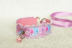 Cotton candy  collar for lolita age play pet play