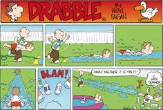 Don't try this at home. Drabble on GoComics.com #humor #comics #summer