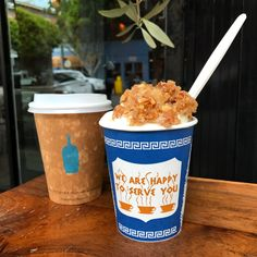 Double the yumminess! Nothing better than Blue Bottle Coffee and Greek yogurt from Souvla SF!