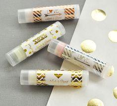 Unique Wedding Favors | Personalized Lip Balm Favor | Gold Wedding Ideas