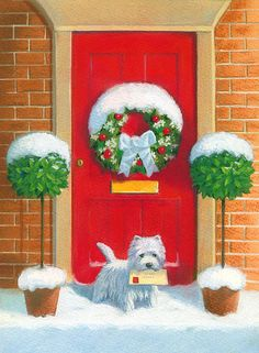 """Westie Post"" by David Price"