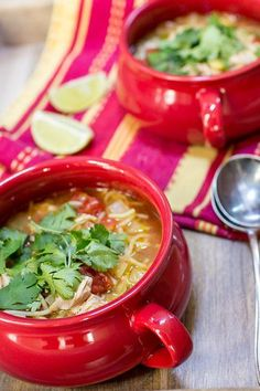 Crockpot (or slow cooker) Mexican Chicken Noodle Soup! So easy and so delicious, you cook the noodles in the pot! Everyone loves this kicked up chicken noodle soup! Vegetable Soup With Chicken, Chicken Noodle Soup, Chicken Soup Recipes, Chicken And Vegetables, Chicken Soups, Slow Cooker Soup, Slow Cooker Recipes, Slow Cooker Mexican Chicken, Mexican Food Recipes
