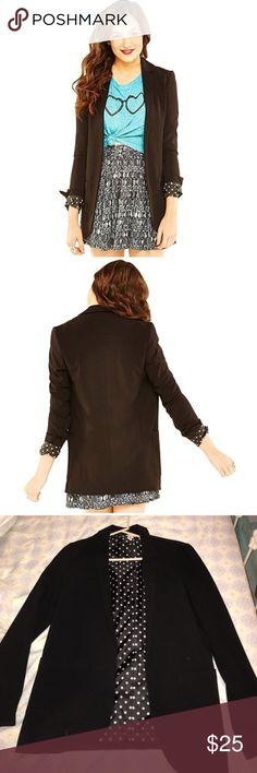 BETHANY MOTA BLAZER Trendy. Model wearing brown. Make a bundle of my Bethany Mota for a great deal !!! bethany mota Jackets & Coats