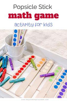 Kindergarten Math Activities, Preschool Learning Activities, Preschool At Home, Color Activities For Preschoolers, Counting Activities, Kids Learning, Math For Kids, Number Games For Kids, Math Activities For Toddlers