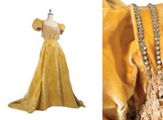 Evening dress by Worth, ca 1905 Paris.  Sold at auction?