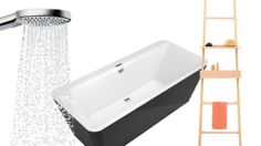 Raindance Select E 120 - 20 nyheder til badet - BO BEDRE Raindance Select E 120 fra Hans Grohe The Selection, Bathtub, Moon, Bathroom, Interior, Standing Bath, The Moon, Washroom, Bath Tub