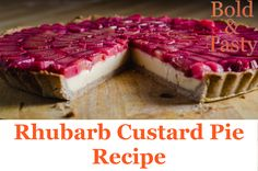A recipe for ginger infused Rhubarb Custard Pie. #rhubarb #pie #tart #custard #recipe #foodblog Rhubarb Jelly, Rhubarb Custard Pies, Rhubarb Tart, Tart Shells, Almond Cream, Pie Dessert, Pie Recipes, Cheesecake, Cheesecakes