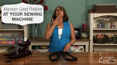 Hours at the sewing machine causing you discomfort? Check out this quilting tip…