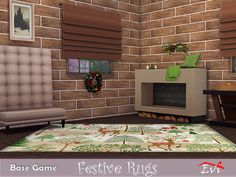 Festive rugs for cozy houses Found in TSR Category 'Sims 4 Rug Recolors' Sims Community, Electronic Art, Cozy House, Festive, Rugs, Home Decor, Farmhouse Rugs, Decoration Home, Cosy House