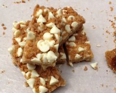 Toffee White Chocolate Squares