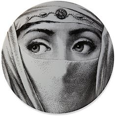 Fornasetti Veiled eyes wall plate sur shopstyle.fr